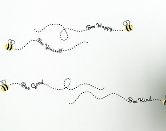 The Bee Philosophies Wall Decals, Bee Wall Decals, Childrens Wall Decor, Nursery Wall Decals, Bee Nursery