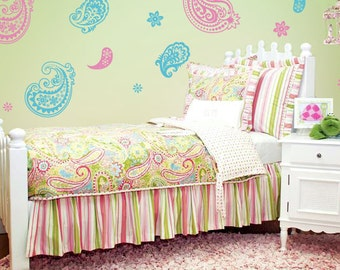 Paisley Wall Decals, Childrens Wall Decals, Paisley Nursery Decor, Baby Nursery Wall Decor