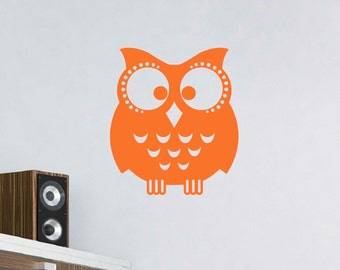 Owl Vinyl Wall Decal, Wall Sticker, Owl Decals, Childrens Nursery Art