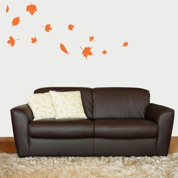 Falling Autumn Leaves Vinyl Wall Decal Bedroom Wall Decals