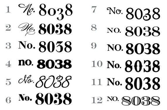 Vinyl Decal House Numbers Custom House Number Decals - Custom vinyl decals numbers