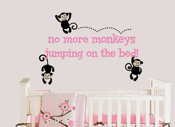 Monkeys jumping on the bed wall decal monkey by for Best 20 no more monkeys jumping on the bed wall decal