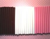 Super Destash Kawaii Mini Glue Sticks 30 Opague Sticks (pink, white, brown) For Kawaii Crafts, Pendants, Miniatures