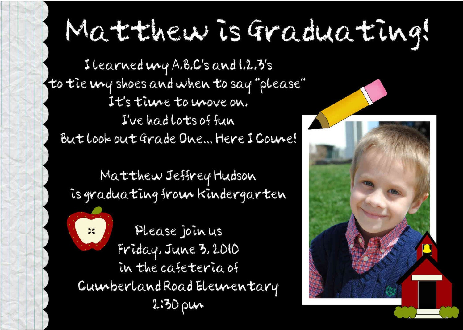 Kindergarten Graduation Invitation Wording for great invitations template