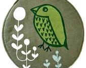 Retro bird pot holder