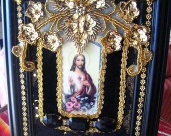 Framed Sacred Heart of Jesus Shrine