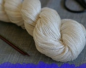 Undyed Yarn Cashmere and Silk Laceweight Yarn - 55g