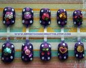 Japanese Nail Art- Kawaii Candy Shoppe Art Nails (Deep Purple)