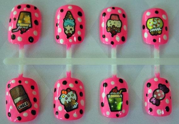 Japanese Nail Art- Kawaii Candy Shoppe Art Nails (Barbie Pink Creme)