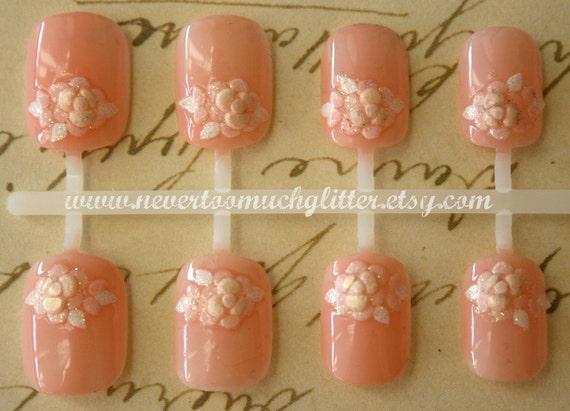 Japanese Nail Art- Peony Blossom French