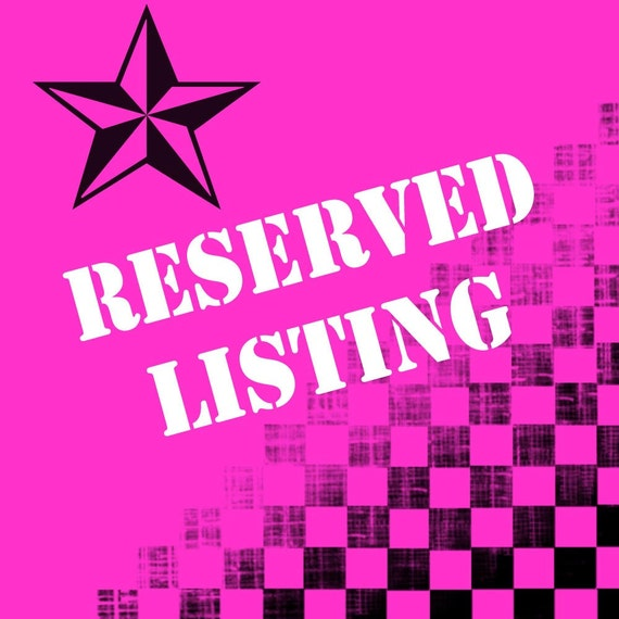 Reserved Listing for Candyce