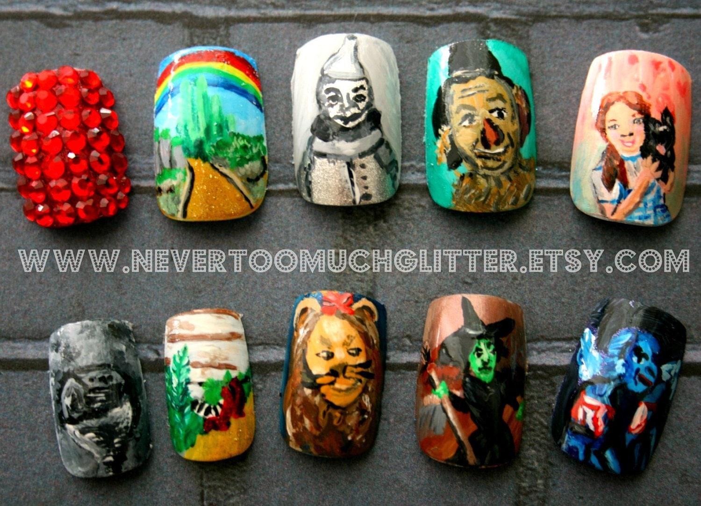 Wizard of oz custom press on nails wizard of oz fake nails zoom prinsesfo Choice Image