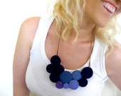 Geometric Jersey Necklace One of a Kind
