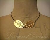 CIJ Sale Golden Leaves Necklace