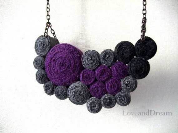 Lullaby  Fibre Art Bib Necklace