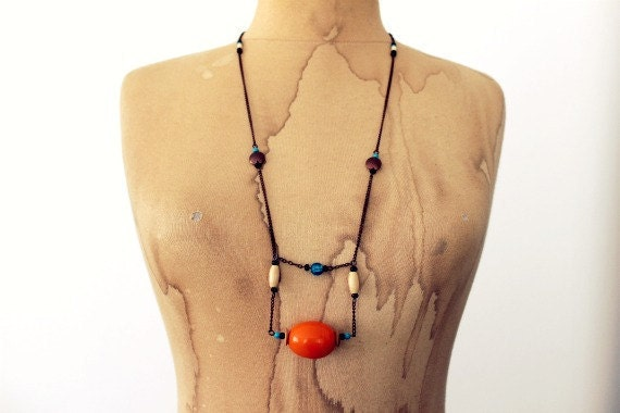 One of a Kind LongTribal Necklace