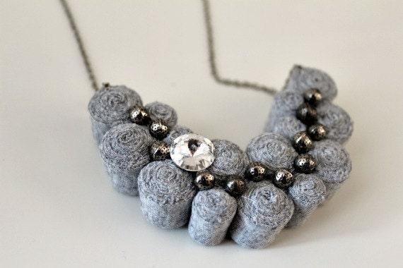 Fibre Bib Necklace