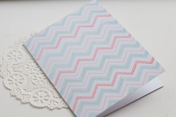she wrote me a letter chevron card by travelinmama on Etsy