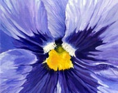 "Notecard- Blue Pansy Flower Print - 'Pansy-Blue Rhapsody"" - DreaminOfDragonflies"