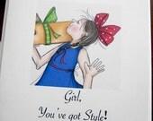 Girlie Girls Set of 8 Everyday Cards