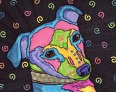 HALF PRICE Neon Pop Art portrait Italian Greyhound dog print home decor art blue green yellow pink purple