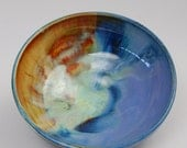 Ring Bowl Small Blue and Orange Dancing Fire Bowl