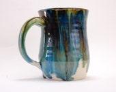 Blue Handmade Mug 12 oz Ceramic Mug