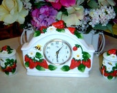 Clock - Kitchen Clock - Strawberry Kitchen Clock