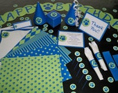 Printable Paw Print Party Supplies - Premium Package