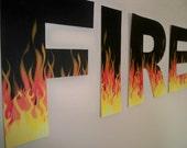 Custom Fire Letter Banner