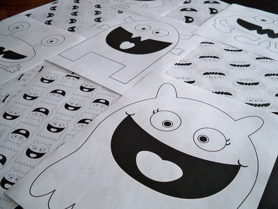 Printable Monster Coloring Pages