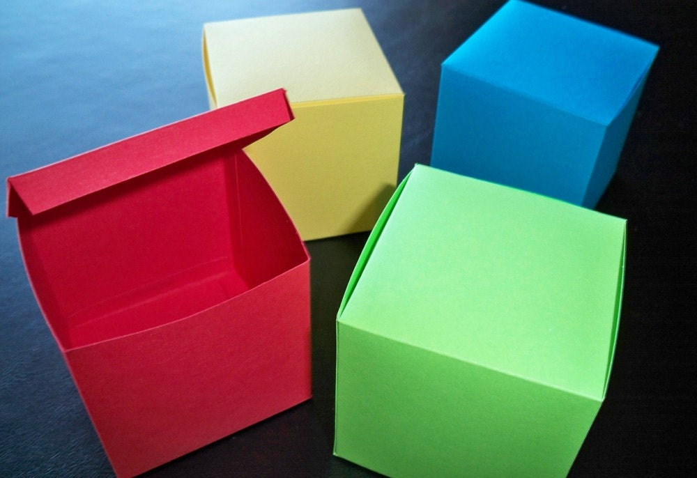Square box template - Template for small gift box ...