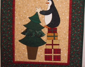 Christmas Penguin Wallhanging - 1