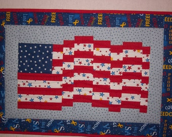 Mini Quilted Flag Wallhanging