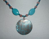 Turquoise and Copper Necklace     -     N1027