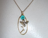 Flower and Bee Necklace - N1515