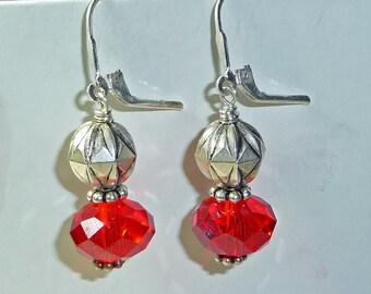 Red Swarovski Crystal Earrings - E1241