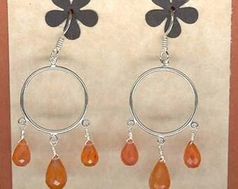 Carnelian Swing Earrings     -     E701