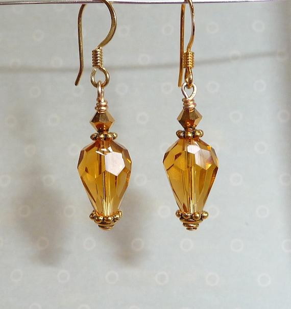 Amber Glow Earrings     -     E723