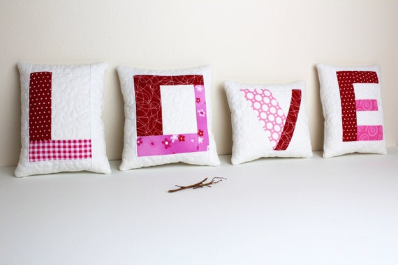 Sale - Love mini pillows - 50% off with coupon code 50off at checkout