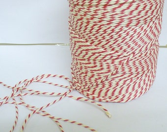 Red and White Baker's Twine Full spool 300 m