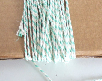 Green and White Baker's Twine 30 m