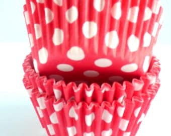 Polka Dot Muffin Cases Red 36 in pack