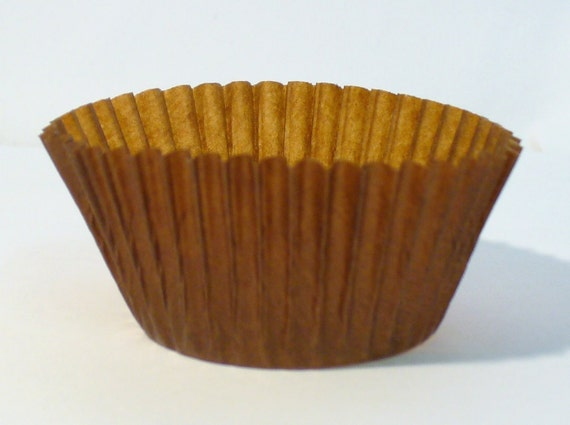 Brown Glassine  Fairy Bun or Cupcake Cases approx 100 in pack