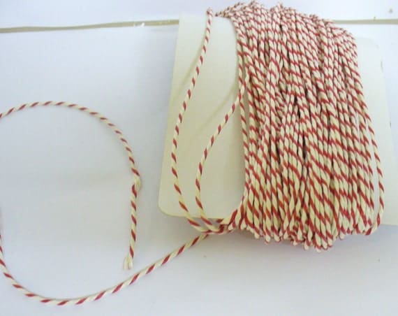 Red and White Baker's Twine 30 m