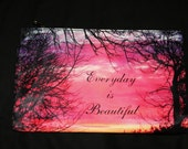 Sunrise Cosmetic Bag 8x5 inches Everyday is Beautiful