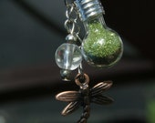 Dragonfly Potion Pendant - Summer Dreams Dragonfly Potion Bottle Pendant or Charm