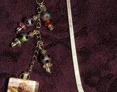 Frog Metal Bookmark - Road Frog Photo with Glass Beads