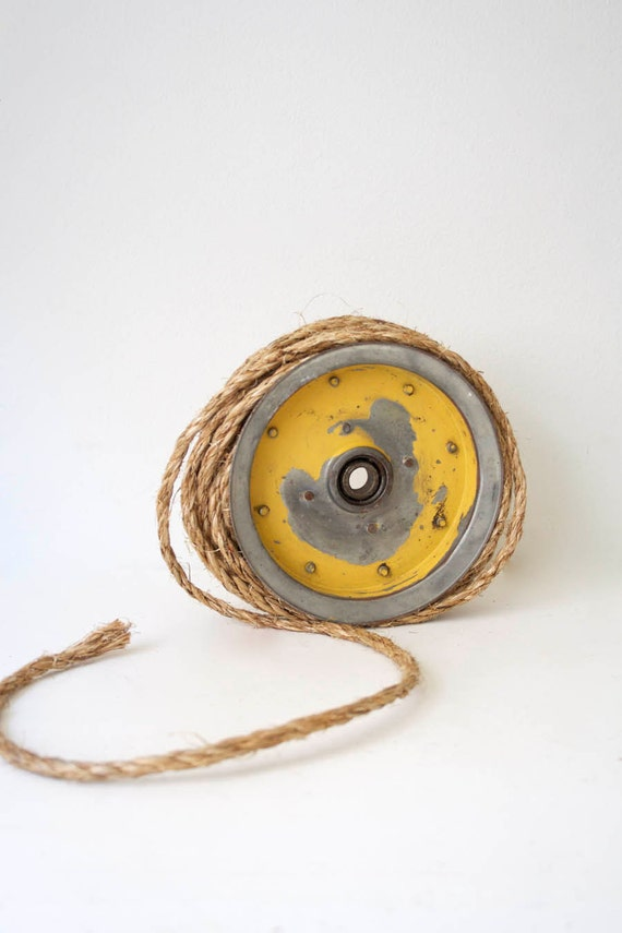Yellow Industrial Pulley