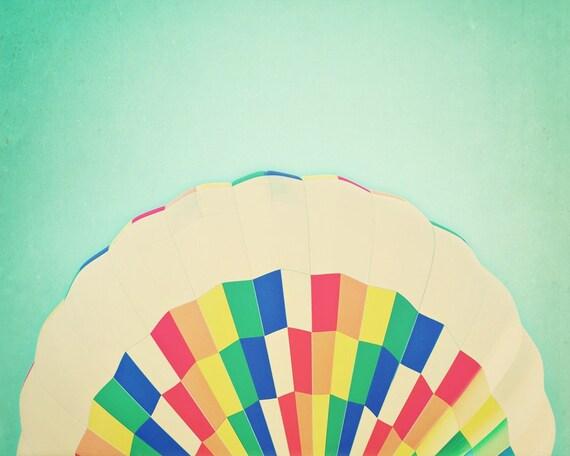 Rainbow -Fine Art Photograph - vibrant multicolored whimsical summer home decor print